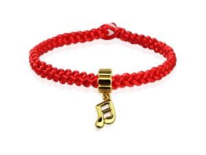編織手環+黃金串飾-音符