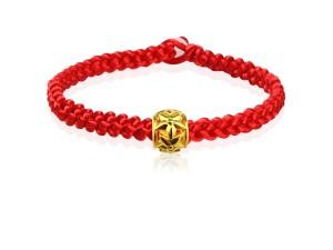 編織手環+黃金串飾-星光