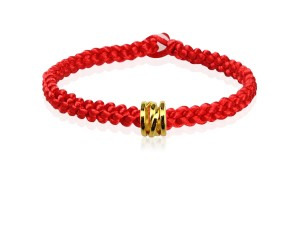 編織手環+黃金串飾-漣漪