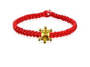 編織手環+黃金串飾-王冠