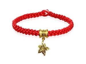 編織手環+黃金串飾-楓葉情