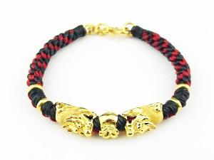 編織手環-黃金串飾-貔貅福袋