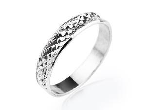 交叉純銀戒指