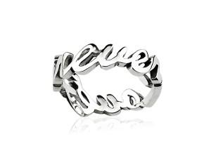 英文純銀戒指產品圖