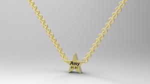 星星姓名刻字項鍊