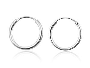 C圈銀耳環