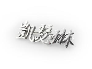 中文名字純銀別針-鑲鑽