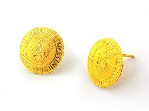 企業訂製金幣耳環