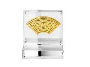 小型黃金扇形心經立牌(含壓克力架)