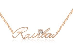 玫瑰金-姓名項鍊-鑲鑽產品圖