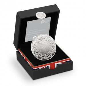 2013英國喬治小王子受洗紀念925銀幣28克精鑄盒裝版