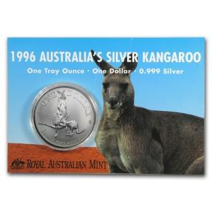 1996皇家澳洲袋鼠銀幣1盎司(原廠封卡)