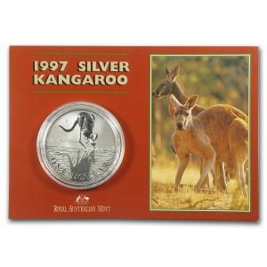 1997皇家澳洲袋鼠銀幣1盎司(原廠封卡)