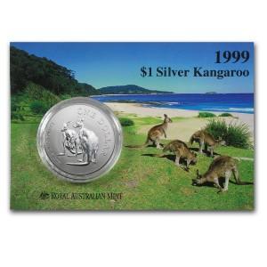 1999皇家澳洲袋鼠銀幣1盎司(原廠封卡)