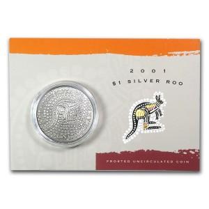 2001皇家澳洲袋鼠銀幣1盎司(原廠封卡)