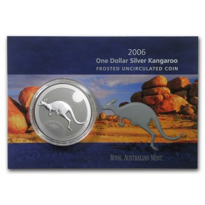 2006皇家澳洲袋鼠銀幣1盎司(原廠封卡)
