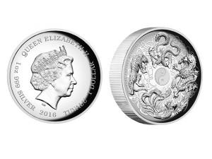 2016中國四聖獸高浮雕精鑄版銀幣1盎司