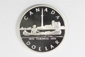1984加拿大多倫多一百五十週年珍藏幣