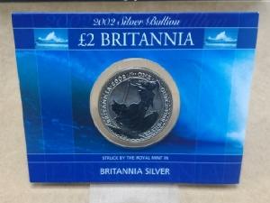 2002大不列顛銀幣1盎司(原廠封卡)