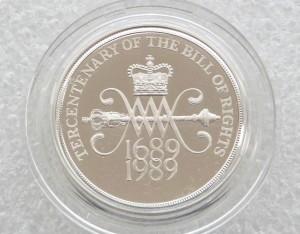 1989大不列顛權利法案通過三百週年珍藏幣
