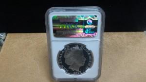 2012紐西蘭奇異鳥1盎司銀幣深磨砂精裝NGC鑑定盒封版-PF69