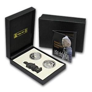 2009英屬曼島兵馬俑仿秦925銀幣精裝套組