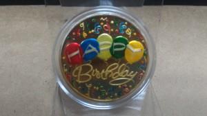 生日快樂銀幣金色版 (附保護殼)